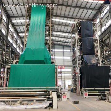 Black green color geomembrane
